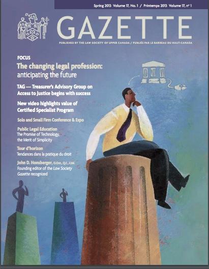 Gazette cover screenshot - 50 per cent - Spring 2013